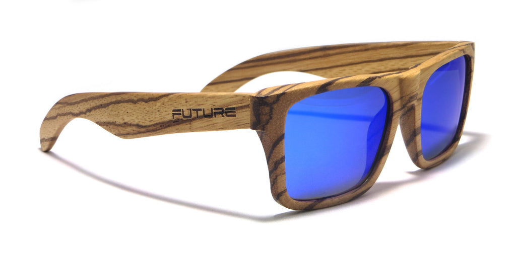 Full Zebra & Polarized Cobalt Blue - Future-Wear - Carbon Sunglasses