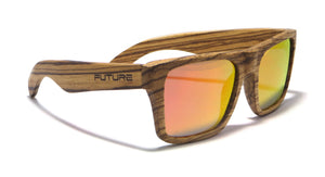 Full Zebra & Polarized Deep Red - Future-Wear - Carbon Sunglasses