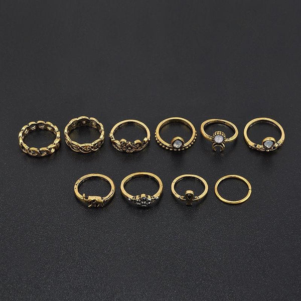 Bohemian Sun Ring Set - The Moonlight Society