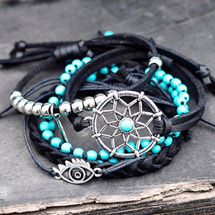 Dreamcatcher Bracelet Set - The Moonlight Society