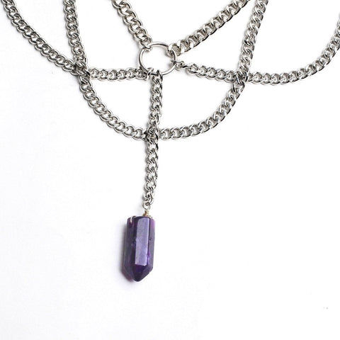 Amethyst Pendant Necklace - The Moonlight Society