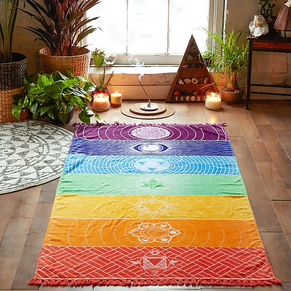 Chakra Meditation Floor Cloth