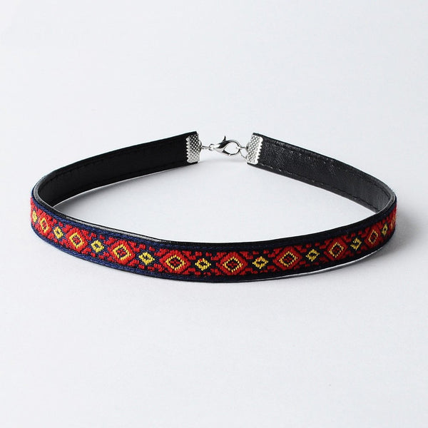Bohemian Embroidered Choker - The Moonlight Society