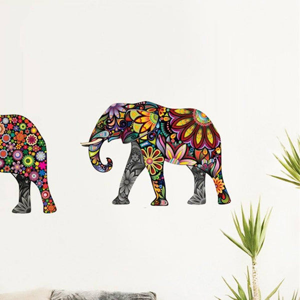 Floral Elephant Wall Decals - The Moonlight Society