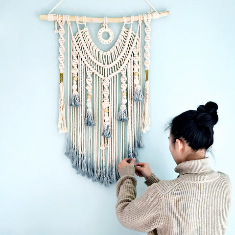Sea Mist Handwoven Wall Hanging