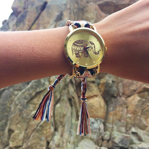 Handwoven Elephant Watch