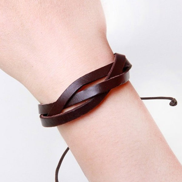 The Braided Leather Bracelet - The Moonlight Society