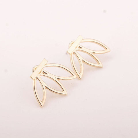 The Lotus Bar Earring - The Moonlight Society