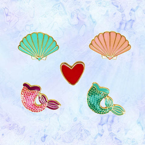 Mermaid Love Pins