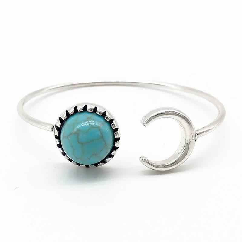 Turquoise Moon Bangle - The Moonlight Society