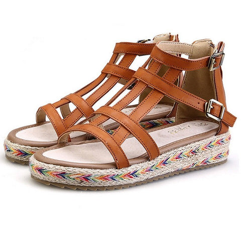 Bohemian Woven Sandal - The Moonlight Society