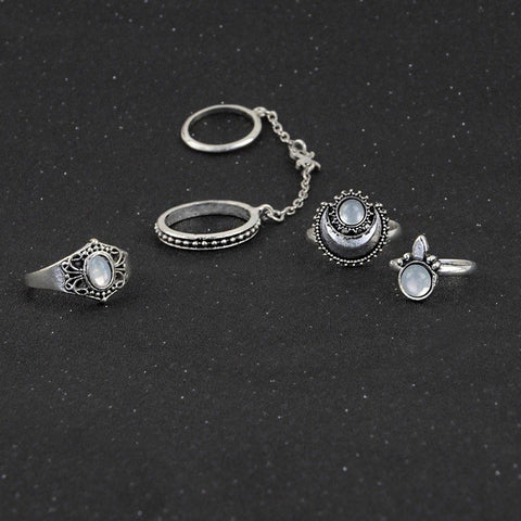 Moonlight Ring Set - The Moonlight Society