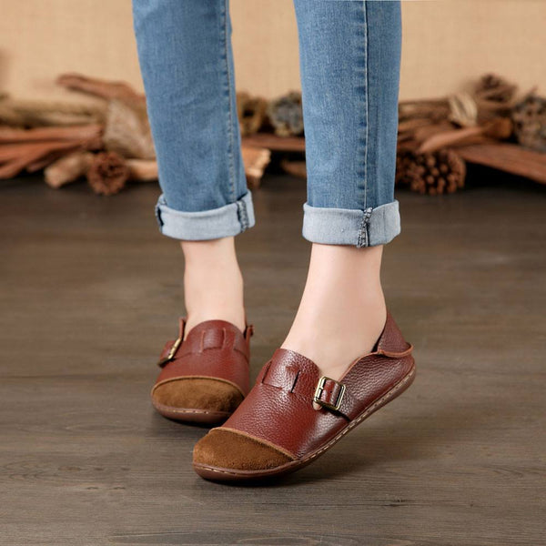 Autumn Leather Slip Ons - The Moonlight Society