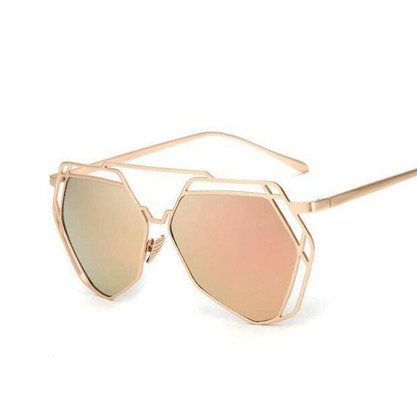 New 2016 Fashion Hexagon Sunglasses Women Brand Designer Hollow Out Lovers Hippie Sun Glasses UV400 Lens Glasses Women Gafas