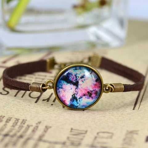 The Leather Galaxy Bracelet - The Moonlight Society