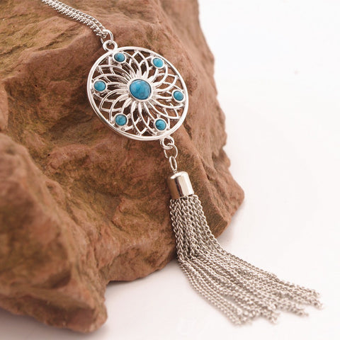 Turquoise Dangle Necklace - The Moonlight Society