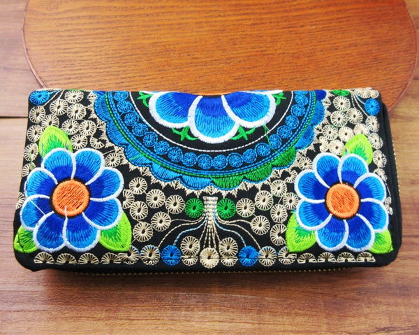 Bohemian Wallet With Embroidery