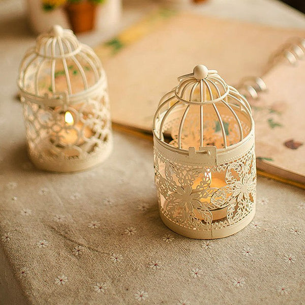 Floral Tea Light Lantern - The Moonlight Society