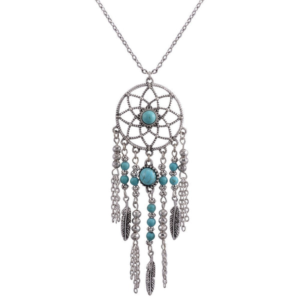 Bohemian Dreamcatacher Necklace - The Moonlight Society