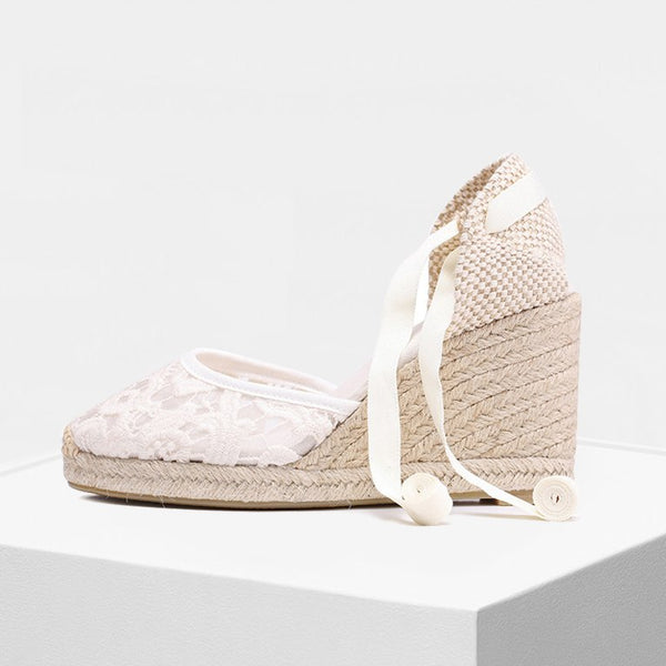 summer women shoes high-heeled Canvas wedge espadrilles sandal