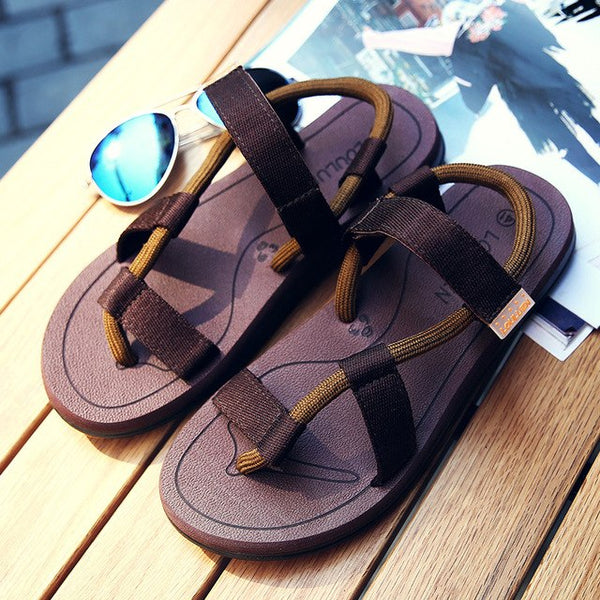 Summer New Style Women's Pure Color Flat Sandals Fashion Non-slip Beach Leisure Women Sandals