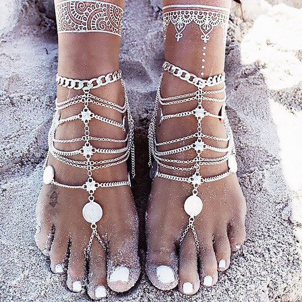 Wanderlust Foot Chain - The Moonlight Society