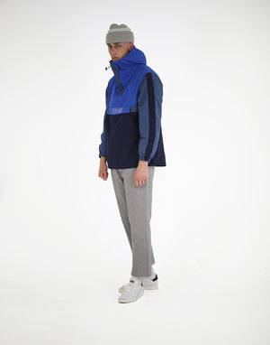 Panelled Anorak / Blue