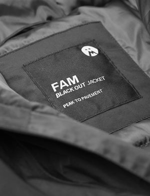 FAM Clothing blackout jacket is a regular fit snowboard jacket