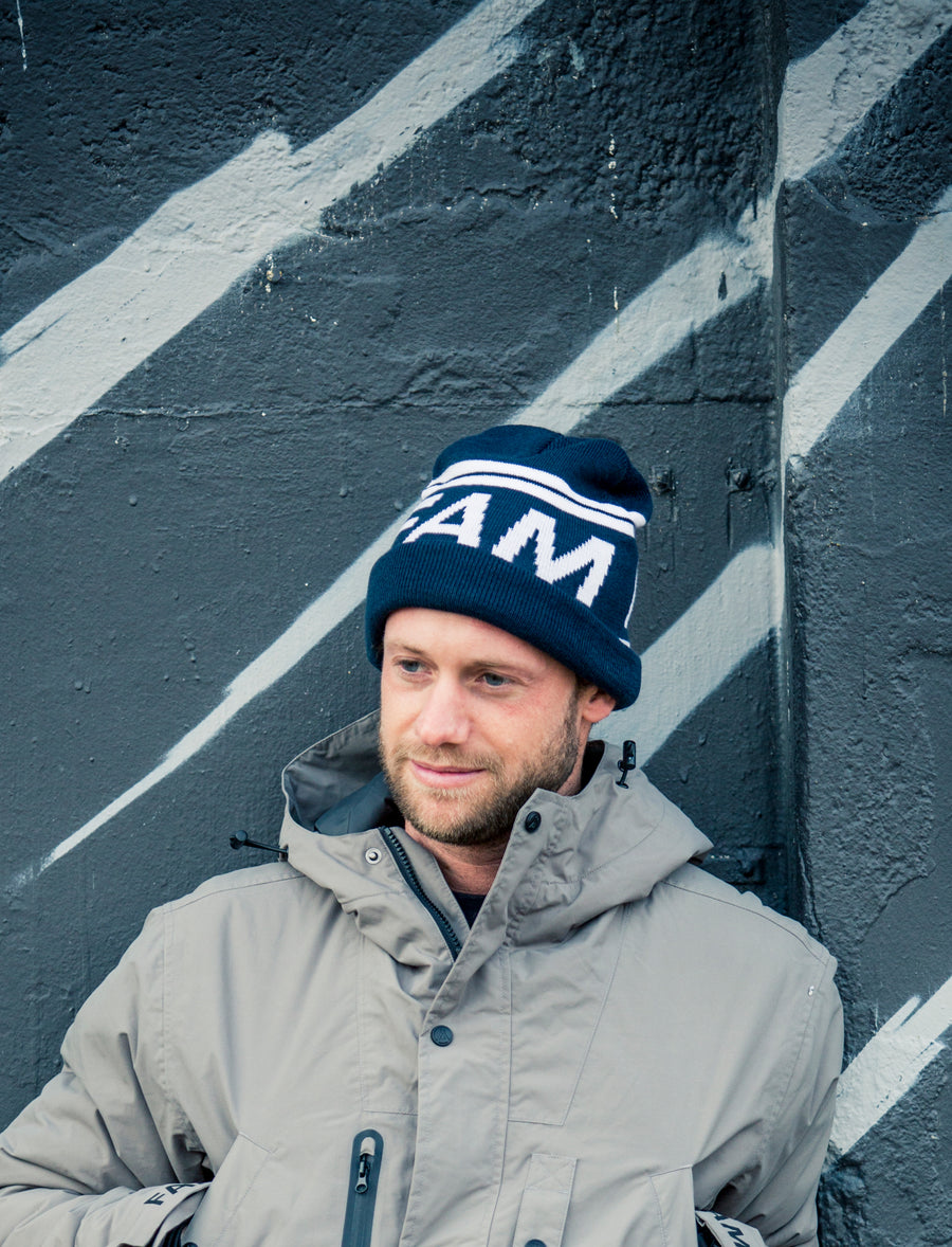 Track Beanie / Navy - FAM CLOTHING