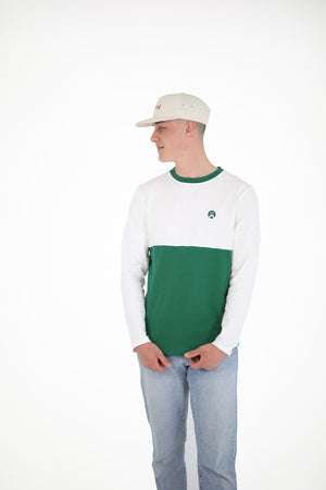 Panelled T Long Sleeve - Green
