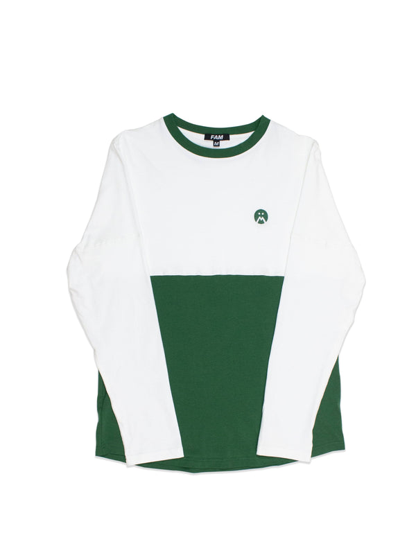 TEES - Panelled T L/S / Green