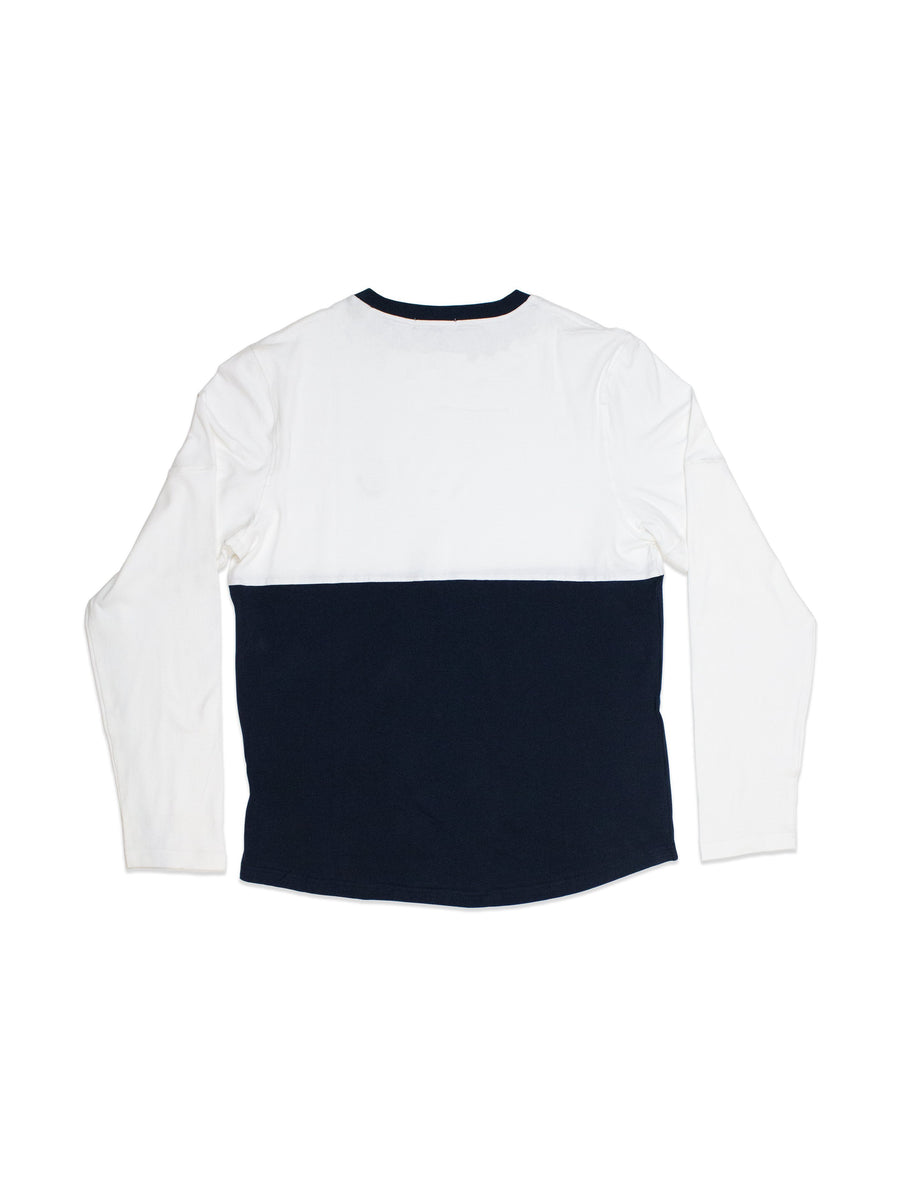 TEES - Panelled T L/S / Navy