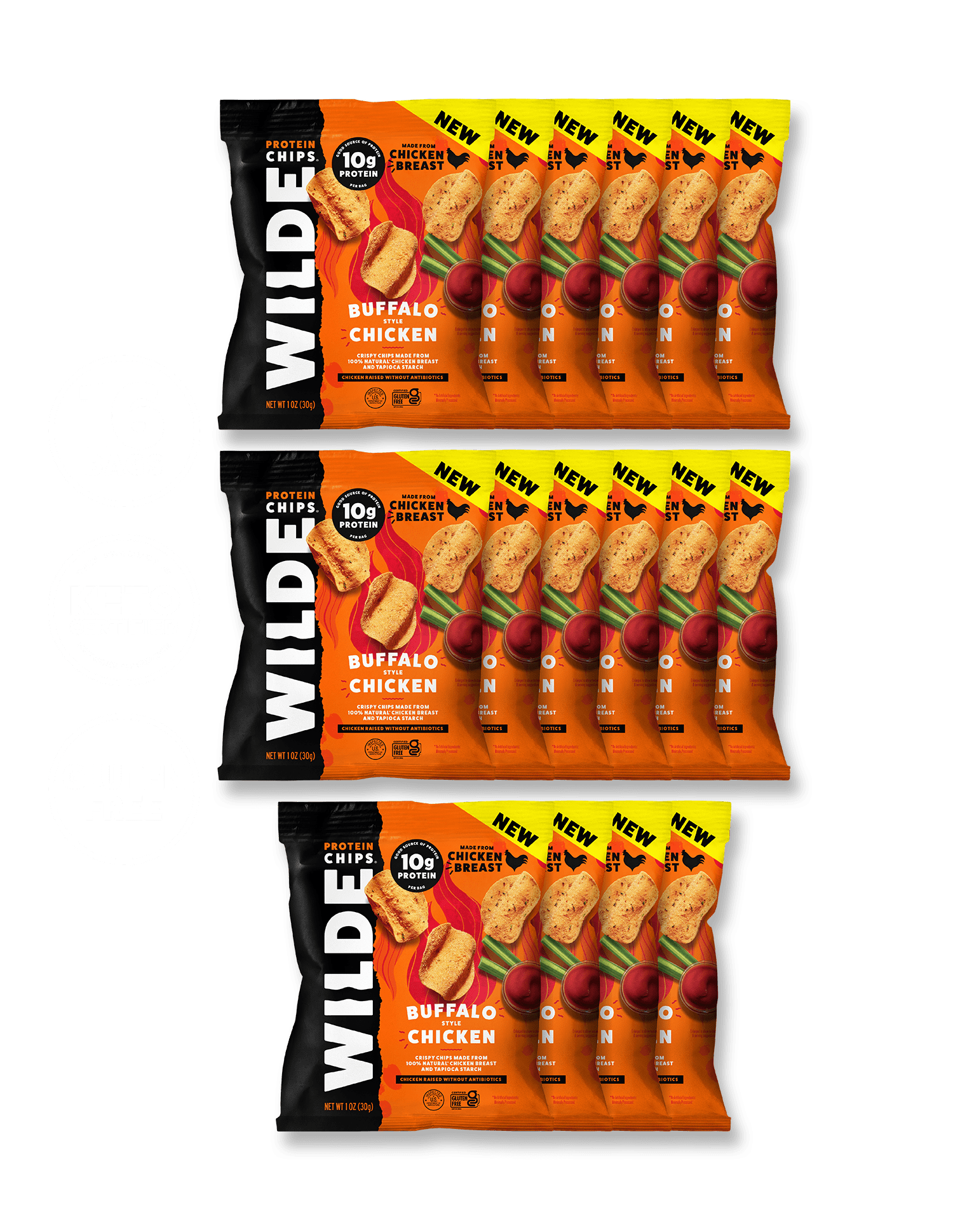 Load image into Gallery viewer, Buffalo Chicken Mini - 16 Bags