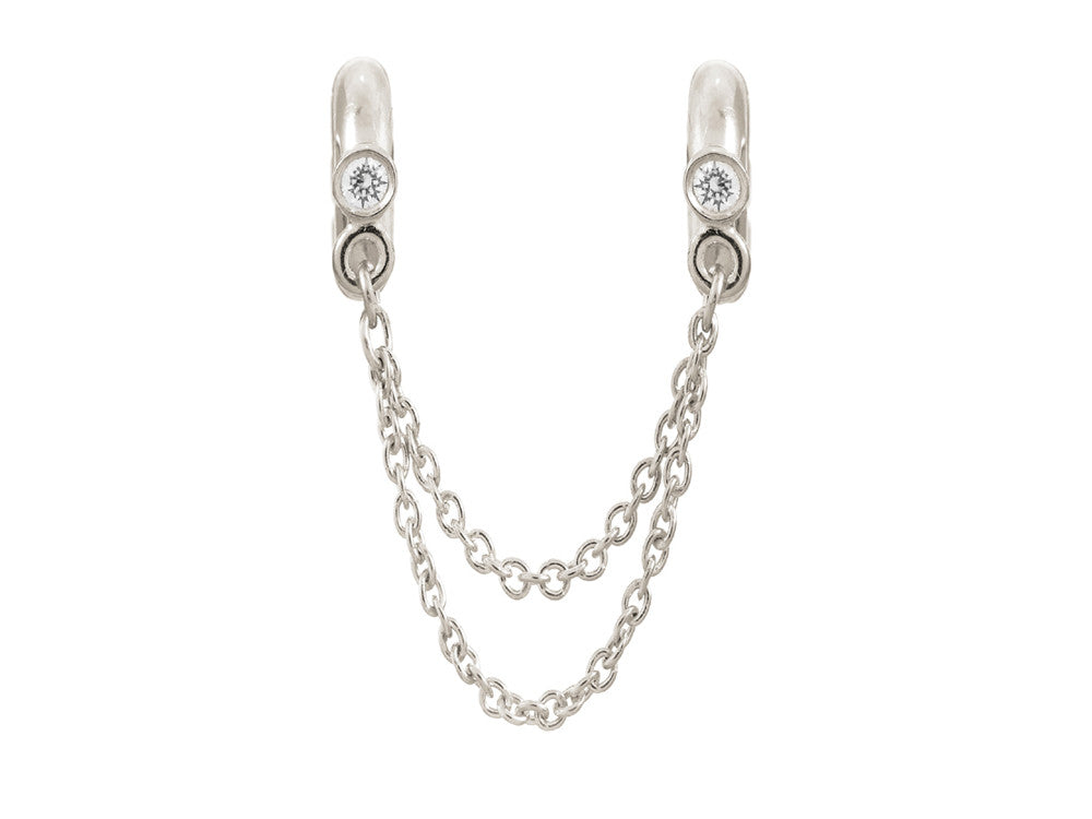 Endless Jewelry - Jennifer Lopez Collection Chain Of Love Silver White Cubic Zirconia Silver Finish