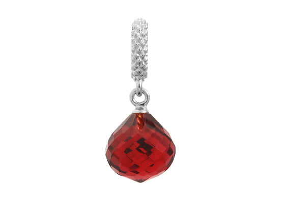 Endless Jewelry - Jennifer Lopez Collection Ruby Mysterious Drop Silver Ruby Crystal Silver Finish