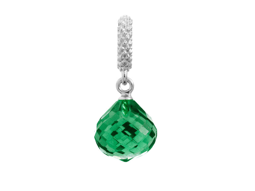 Endless Jewelry - Jennifer Lopez Collection Emerald Mysterious Drop Silver Emerald Crystal Silver Finish