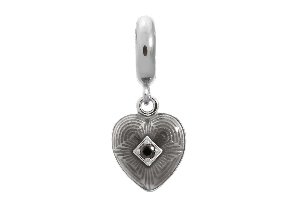 Endless Jewelry - Jennifer Lopez Collection Black Big Heart Silver Black Cubic Zirconia Silver Finish