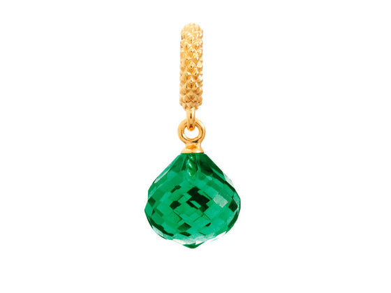 Endless Jewelry - Jennifer Lopez Collection Emerald Mysterious Drop Emerald Crystal Gold Finish