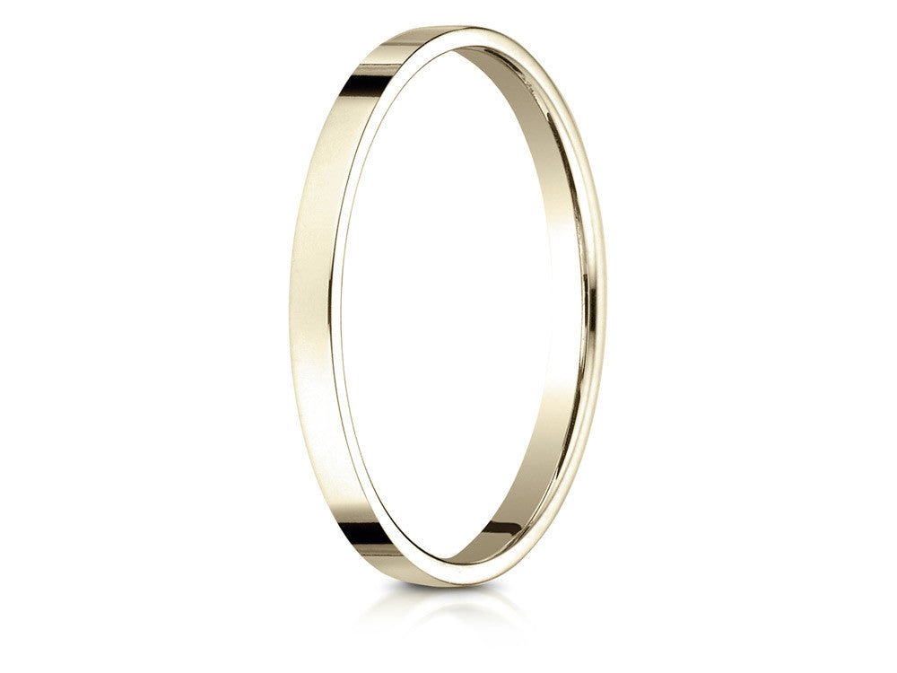 Benchmark 14k Gold 2.0mm Traditional Flat Wedding Band / Ring