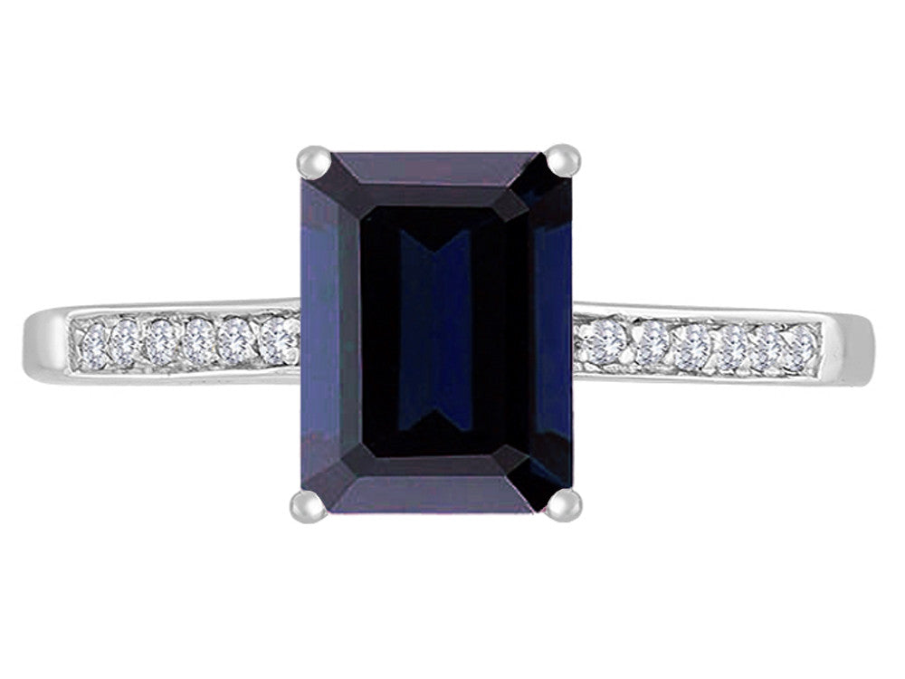 Original Star K Genuine Black Sapphire Solitaire Engagement Ring