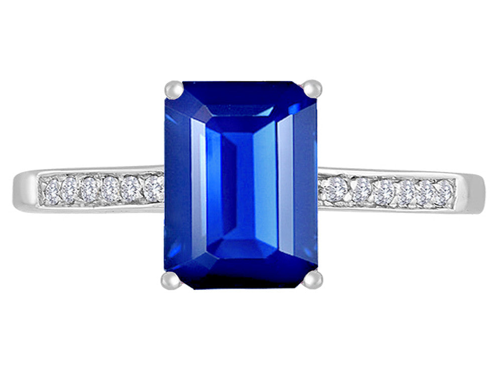 Original Star K Created Sapphire Solitaire Engagement Ring
