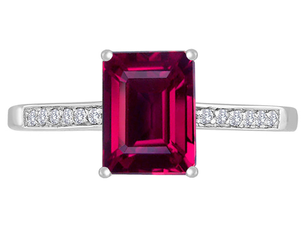 Original Star K 8x6mm Created Ruby Solitaire Engagement Ring