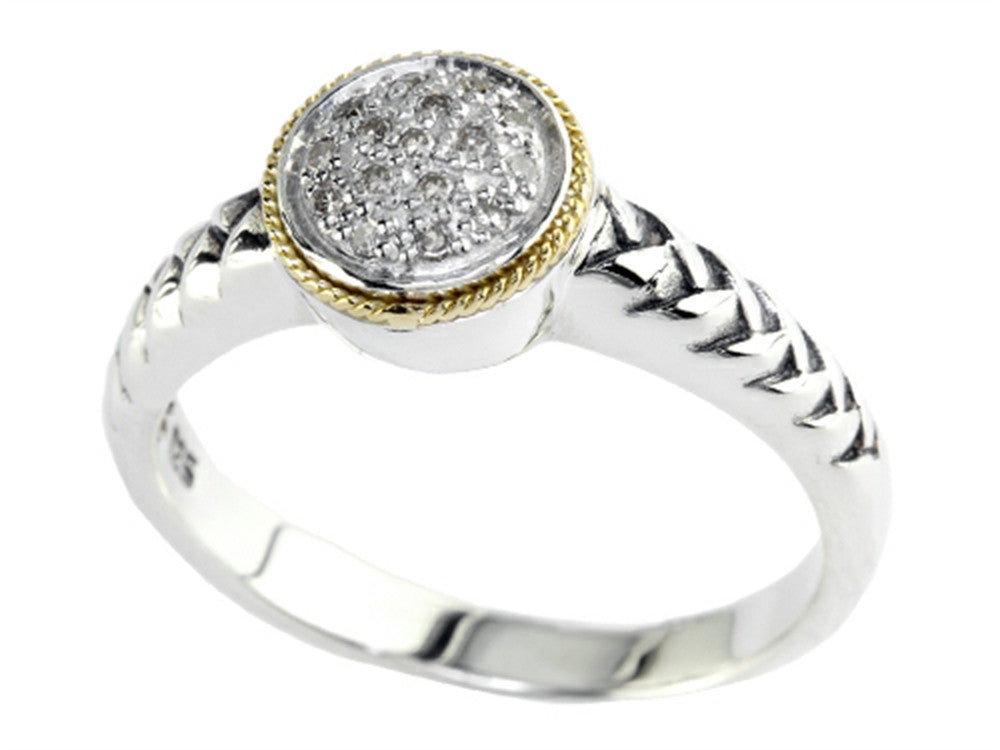 Balissima By Effy Collection Sterling Silver with 18k Yellow Gold Accent Ring