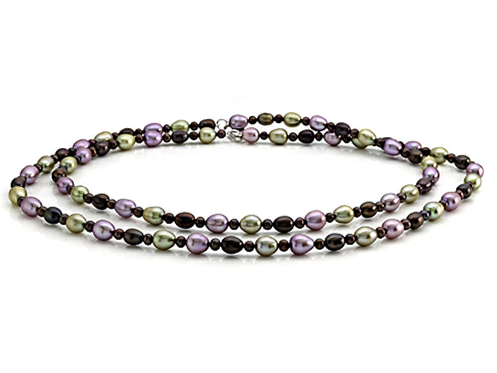 Balissima By Effy Collection Multicolor (dyed)  Baroque Freshwater Cultured Pearl Necklace Lobster Clasp