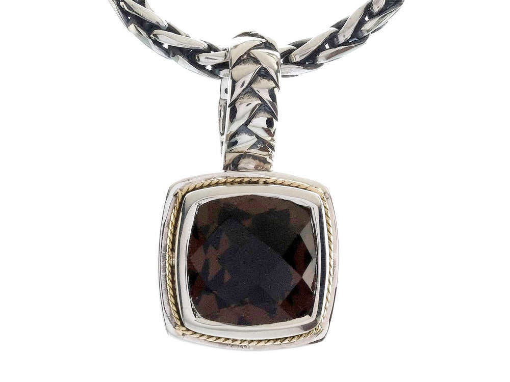 Balissima By Effy Collection Sterling Silver and 18k Yellow Gold Smoky Quartz Pendant Necklace