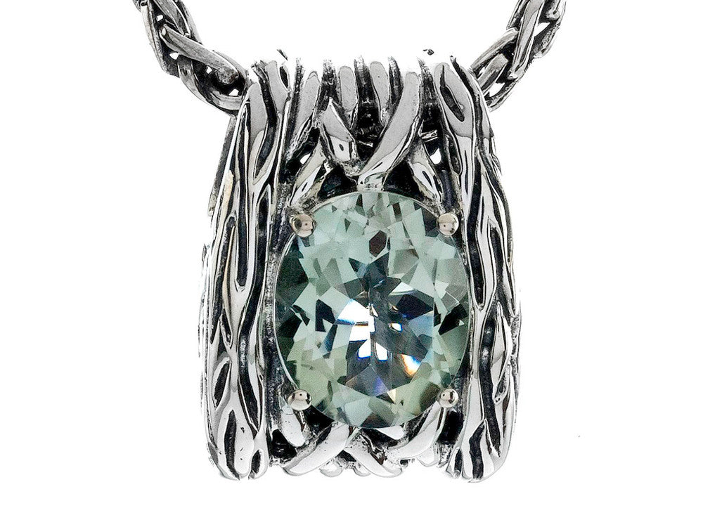 Balissima By Effy Collection Sterling Silver Green Amethyst Pendant Necklace
