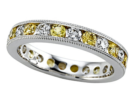 Karina B Diamond and Yellow Sapphire Eternity Band