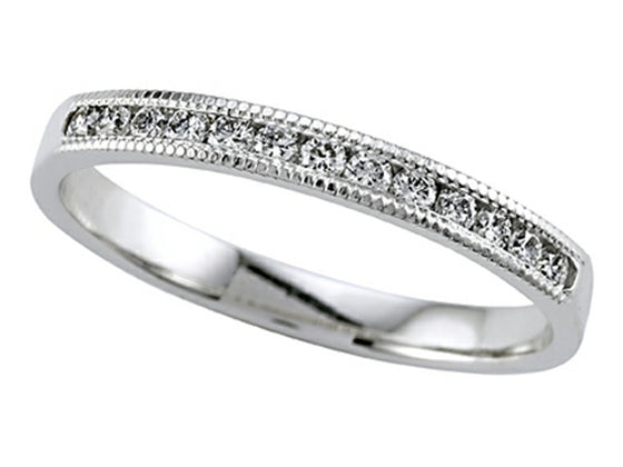 Karina B Round Diamond Band With Milgrain