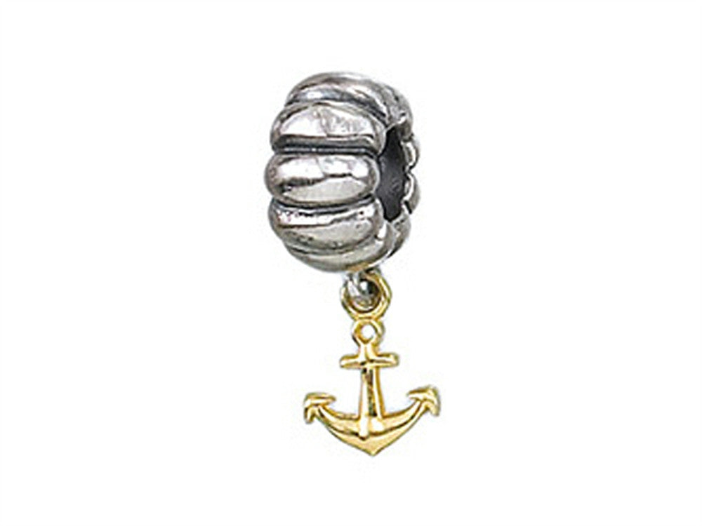 Zable 14k Anchor Dangle Bead / Charm