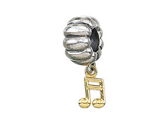 Zable 14k Music Note Dangle Bead / Charm